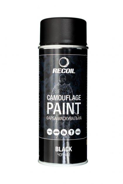 Краска маскировочная аэрозольная RecOil (Черный) - изображение 1