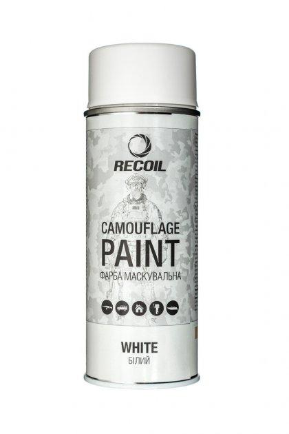 Краска маскировочная аэрозольная RecOil (Белая мат) - изображение 1