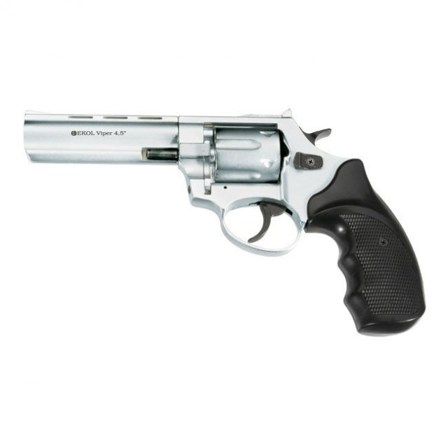 """Револьвер під патрон Флобера Ekol Viper 4,5"""" Chrome - зображення 1"""