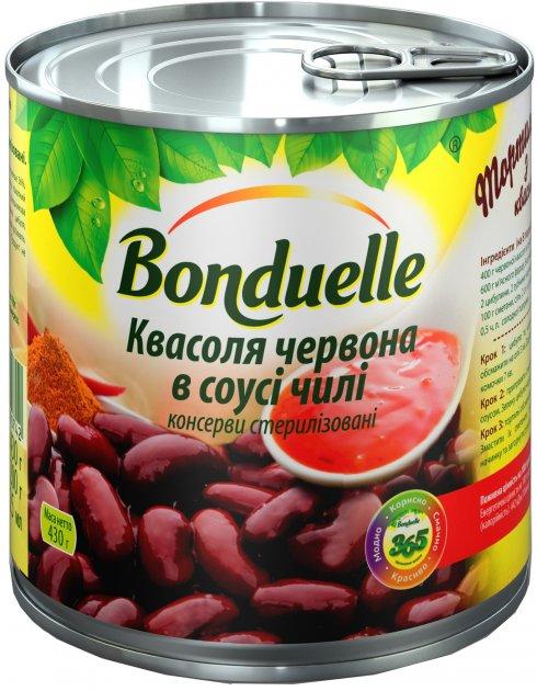 Фасоль Bonduelle Красная в пикантном соусе чили 430 г (3083680090742) - изображение 1
