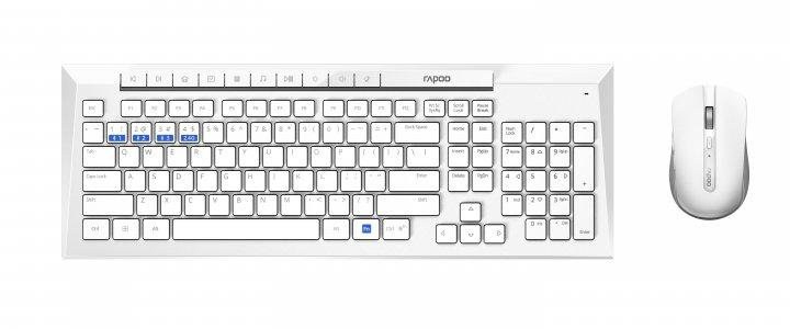 Комплект бездротовий Rapoo 8200M White - зображення 1
