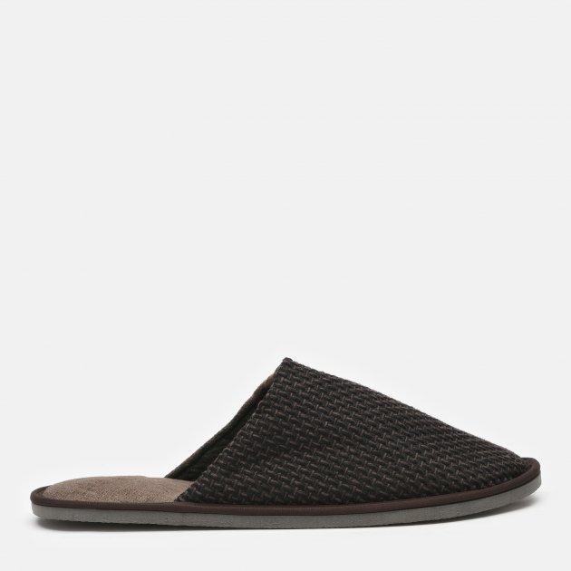 Комнатные тапочки FX shoes Токио 20002 40-41 Серо-коричневые (2820000009357) - изображение 1