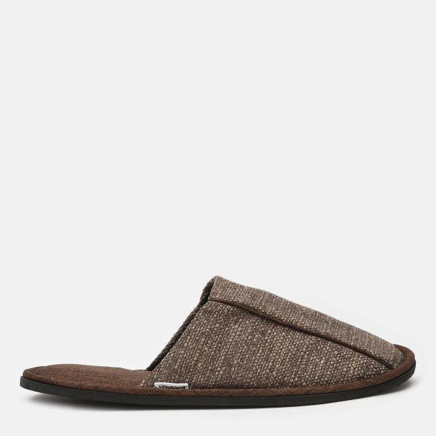 Комнатные тапочки FX shoes Портленд 19004 42-43 Коричневые (2820000009609) - изображение 1