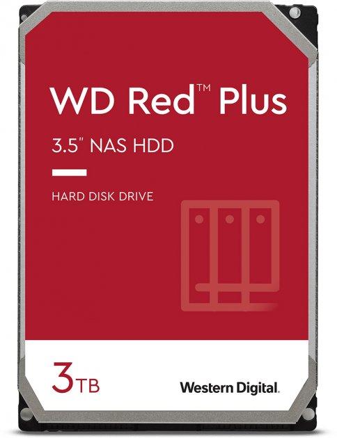 Жорсткий диск Western Digital Red Plus 3 TB 5400 rpm 128 MB WD30EFZX 3.5 SATA III - зображення 1
