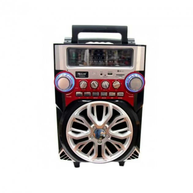 Мобильная акустическая система AMC RX-2099 Черный/Красный (3716) - зображення 1