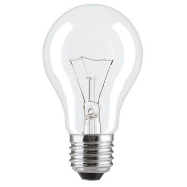 Лампа розжарювання 75А1/CL/E27 240V прозора GE Угорщина - зображення 1