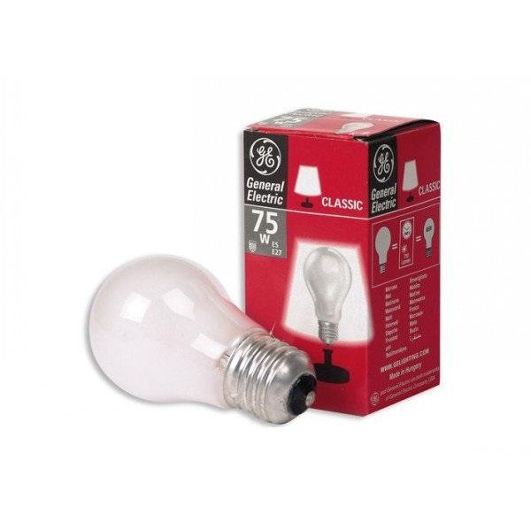 Лампа розжарювання 75А1/F/230V E27 матова GE Угорщина - зображення 1