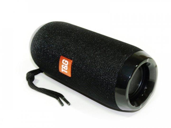 Беспроводная портативная Bluetooth стерео колонка T&G 117 Черная (117 Black) - изображение 1