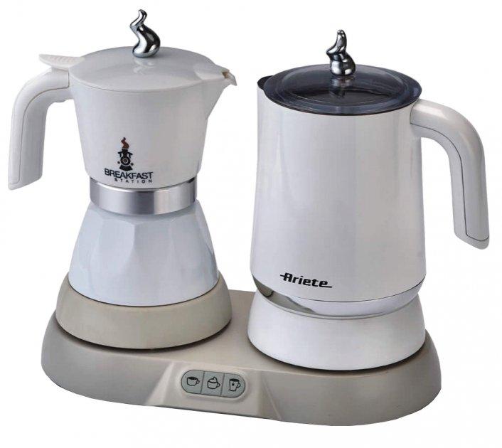 Гейзерна кавоварка ARIETE 1344 + капучинатор - зображення 1