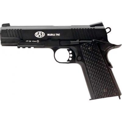Пневматичний пістолет SAS M1911 Tactical (KMB-77AHN) - зображення 1