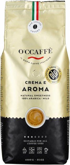 Кофе в зернах O'CCaffe Crema e Aroma 100% Arabica 1 кг (8013663001095) - изображение 1