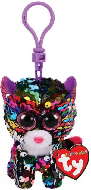 Мягкая игрушка-брелок TY Dotty Леопард в пайетках с карабином Радужный 12 см (35301) (8421353019) - изображение 1