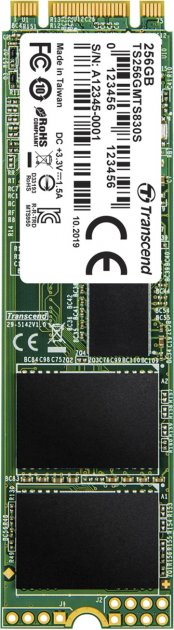 Transcend SSD MTS830S 256GB M.2 SATA SATA III 3D-NAND TLC (TS256GMTS830S) - изображение 1