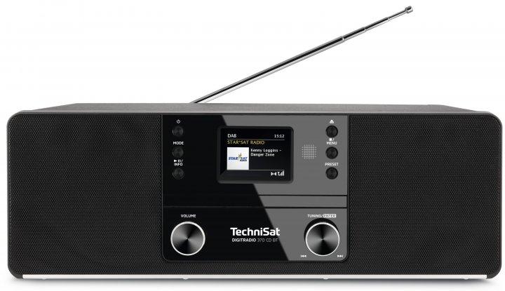 Цифровий стаціонарний радіоприймач TechniSat DIGITRADIO 370 CD BT з CD-плеєром чорний (0000/3948) - зображення 1