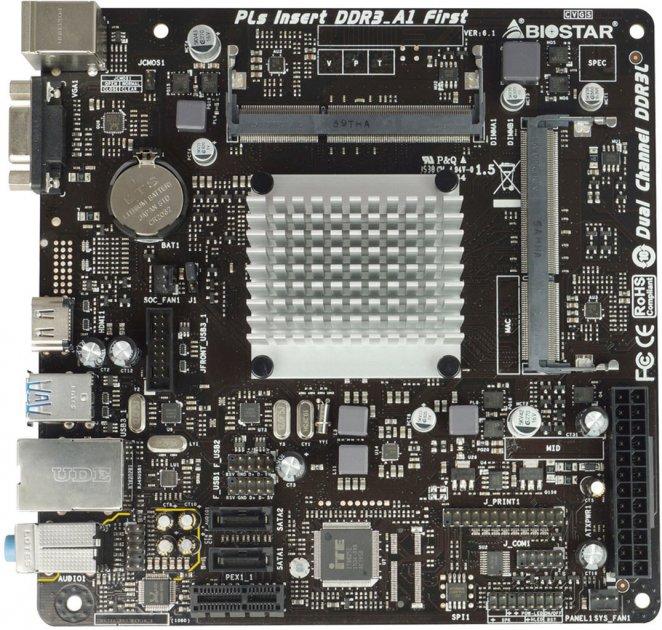 Материнська плата Biostar J3060NH (Intel Celeron J3060, SoC, PCI-Ex1) - зображення 1