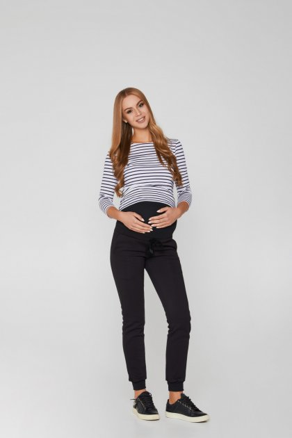 Спортивні штани для вагітних (зима) Lullababе Base 50р чорний - зображення 1
