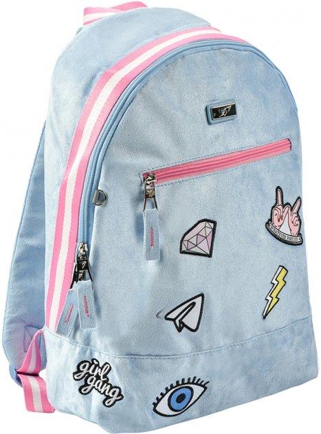 Рюкзак молодежный YES T-94 Tusa женский 0.5 кг 30x42x15 см 19 л Голубой (558471) - изображение 1