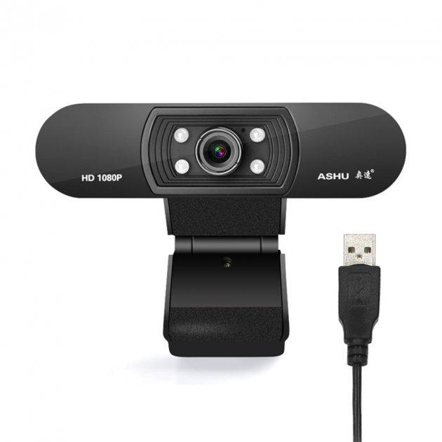 Веб камера ASHU H800 с микрофоном USB 2.0 1080P компьютерная - изображение 1