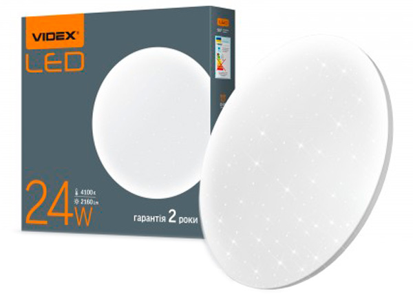 Стельовий світильник VIDEX 24W 4100K 220V (25299) - зображення 1