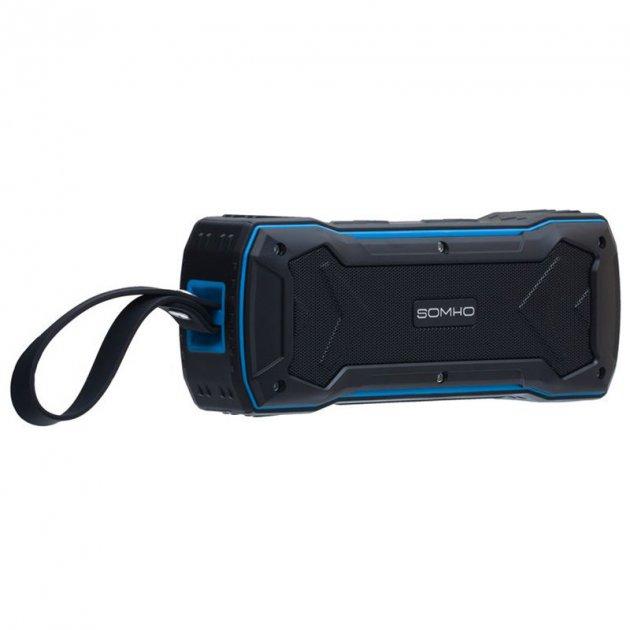 Bluetooth колонка Somho S335 Чорний / Синій - зображення 1