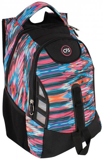 """Рюкзак молодежный Cool For School 17"""" Черный с розовым (CF85851)"""