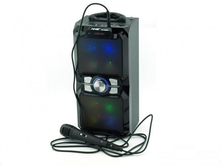Bluetooth колонка з мікрофоном Радіо - бумбокс AFG NS-15030BT Premium, чорний, акустика, акустична система, музичний центр, Bluetooth ( блютус), для будинку, дачі, кафе, природи, акумуляторна - зображення 1