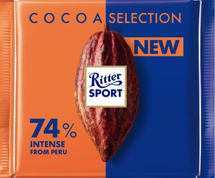 Шоколад Ritter Sport насыщенный темный 74% какао 100 г (4000417933003) - изображение 1