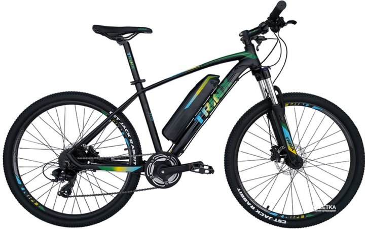 Электровелосипед TRINX E-Bike X1E 17 Matt-Black-Green-Blue (X1EMBGB) - изображение 1