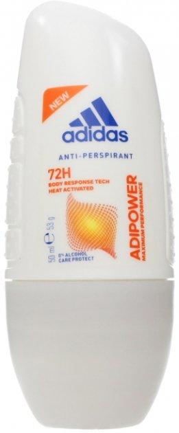 Дезодорант-антиперспирант шариковый Аdidas Adipower 50 мл (3614224028244) - изображение 1