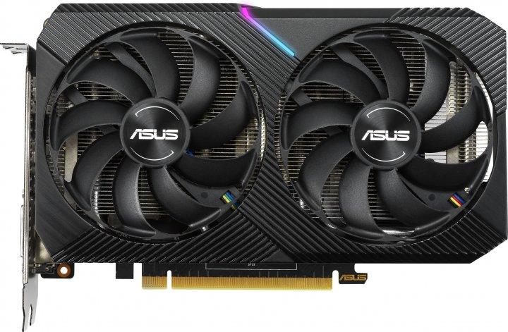 Asus PCI-Ex GeForce RTX 2060 Dual Mini OC 6GB GDDR6 (192bit) (1365/14000) (DVI-D, HDMI, DisplayPort) (DUAL-RTX2060-O6G-MINI) - зображення 1