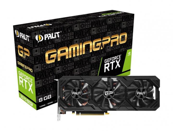 Відеокарта GF RTX 2070 Super 8GB GDDR6 GamingPro Palit (NE6207S019P2-186T) - зображення 1