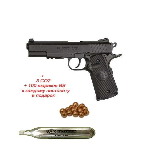 Пістолет пневм. ASG STI Duty One 4,5 мм - зображення 1