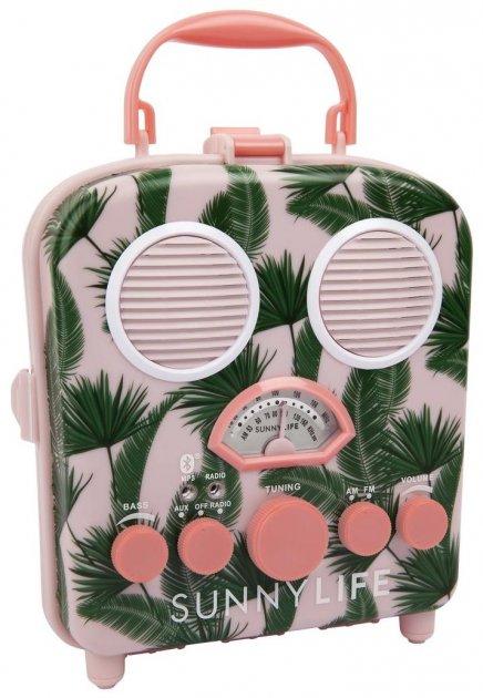 Пляжна колонка Sunny Life з радіо, BlueTooth, FM, MP3 Бананові листя (9339296046708) - зображення 1