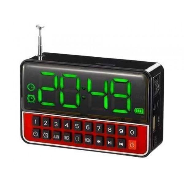 Настільні годинники з радіо і будильником акумуляторні WSTER WS-1513 Black - зображення 1