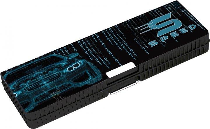 Пенал пластиковый на магните Cool For School Graphic Car 7022 2 отделения Graphic Car (CF86616) - изображение 1