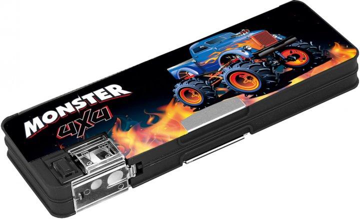Пенал пластиковий на магніті Cool For School Monster 7012 з точила 2 відділення Чорний (CF86612) - зображення 1