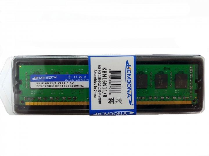 Оперативна пам'ять KEMBONA DDR3-1600 8Gb PC3-12800 8192MB (KBN16N11/8) for AMD - зображення 1