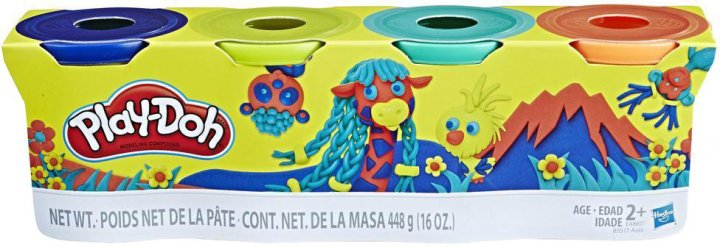 Набор для лепки Play-Doh 4 баночки (B5517_E4867) - изображение 1