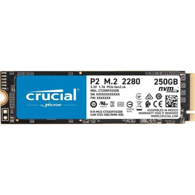 Накопитель SSD M.2 2280 250GB MICRON (CT250P2SSD8) - изображение 1