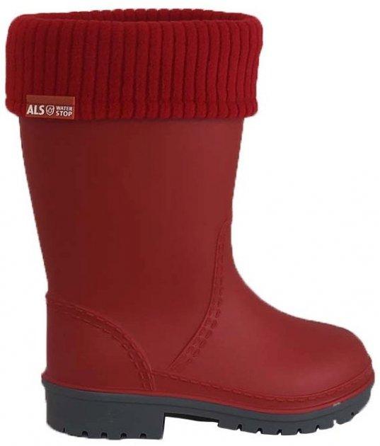 Резиновые сапоги Alisa Line WIN 801 36-37 24 см Красные (2500000060502) - изображение 1