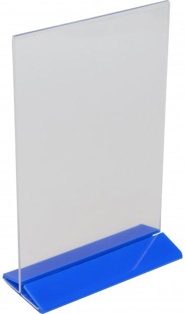 Менюхолдер Wissaider А5 вертикальный 149х210 мм синее основание (WiS-055)