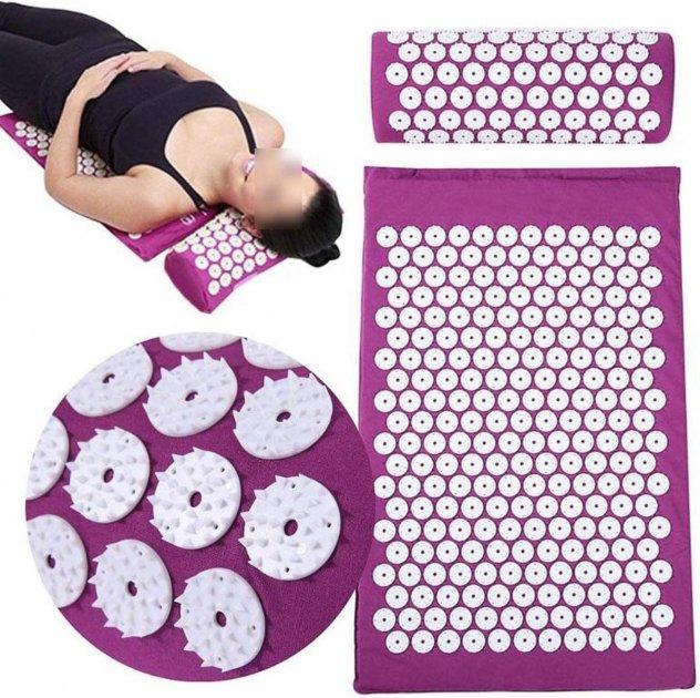 Набір килимок акупунктурний масажний + подушка - зображення 1