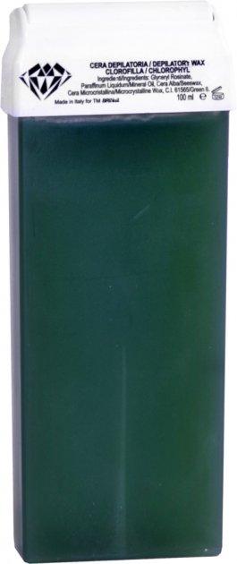 Воск для депиляции BRINail Green Chlorophyll в картридже 100 мл (2142393100153) - изображение 1
