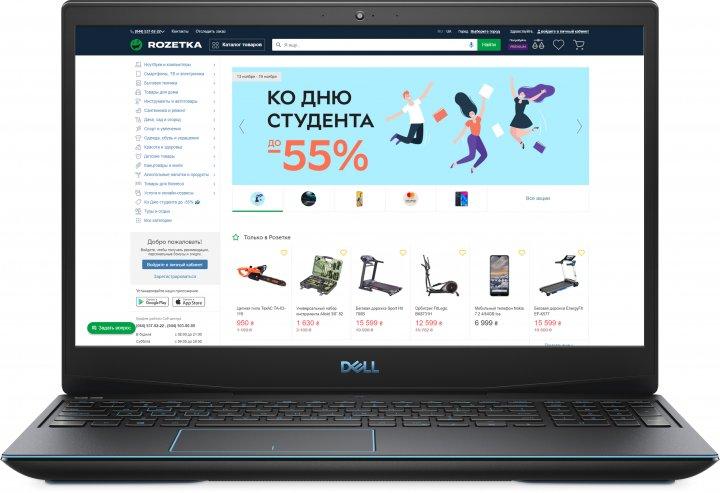 Ноутбук Dell G3 15 3590 (i7/16/ssd512/1660ti 6GB/Linux) Black Суперціна!!! - зображення 1