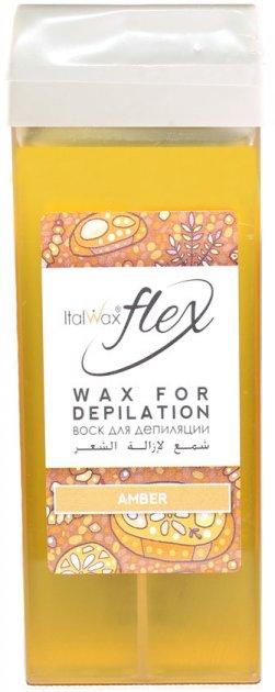Воск для депиляции ItalWax Flex Янтарь в картридже 100 мл (8032835173002) - изображение 1