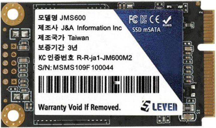 Leven JMS600 128GB mSATA SATAIII TLC (JMS600-128GB) - зображення 1
