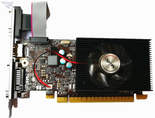 AFOX PCI-Ex GeForce GT 730 1GB GDDR3 (128bit) (902/1333) (VGA, DVI, HDMI) (AF730-1024D3L7-V1) - зображення 1