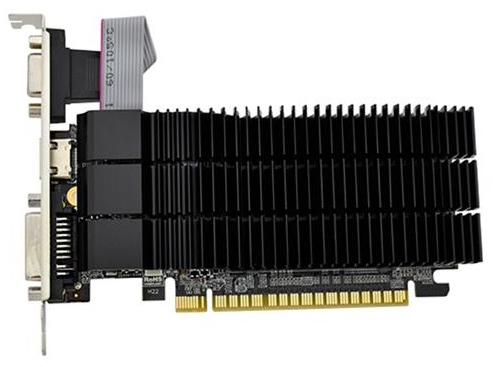 AFOX PCI-Ex GeForce G210 1GB GDDR3 (64bit) (589/1040) (DVI, VGA, HDMI) (AF210-1024D3L5-V2) - изображение 1