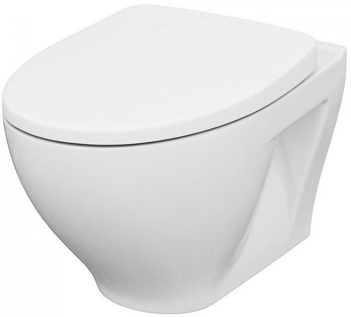Унітаз підвісний CERSANIT Moduo CleanOn K701-262 із сидінням Slim Wrap Soft Close дюропласт - зображення 1