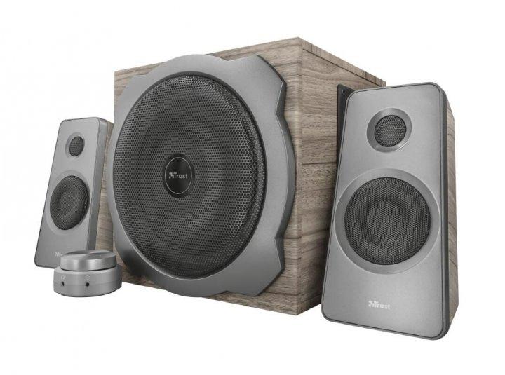 Акустическая система Trust Tytan 2.1 Speaker Set Wood - изображение 1